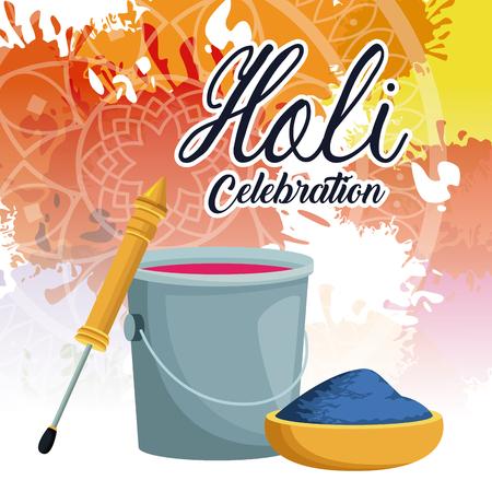 Holi celebration design icon vector illustration graphic design