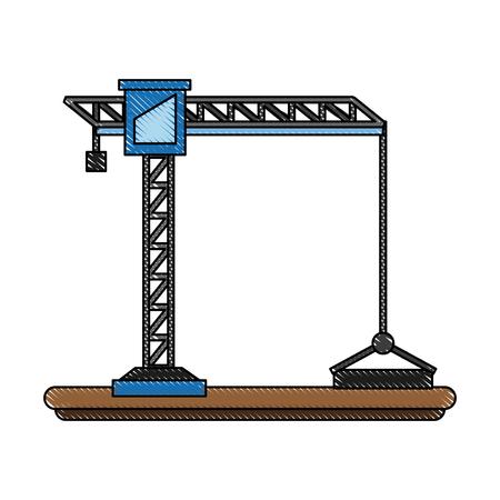 Construction crane symbol icon vector illustration graphic design