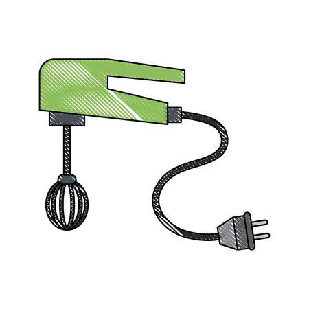 Mixer kitchen appliance icon vector illustration graphic design
