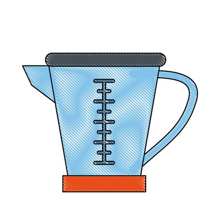 Measure cup isolated icon vector illustration graphic design.