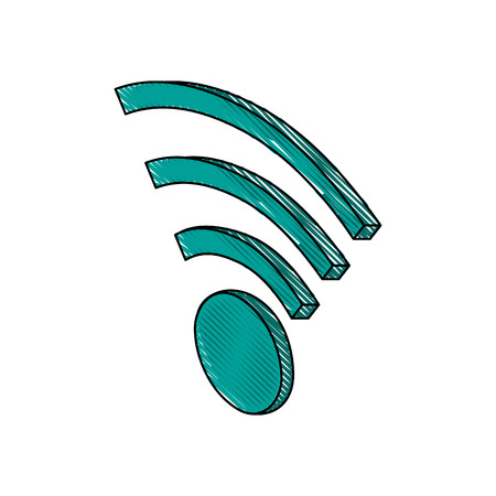 Wifi internet symbol icon vector illustration graphic design Illustration