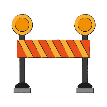 Construction barrier isolated icon vector illustration graphic design