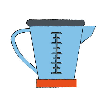 Measure cup isolated icon vector illustration graphic design