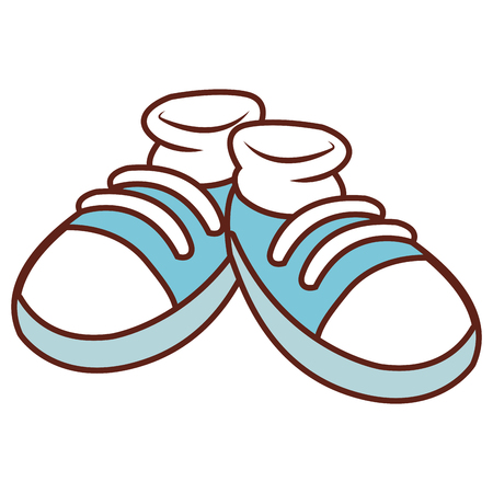 Pair of shoes cartoon icon vector illustration graphic design Stock Vector - 94202132