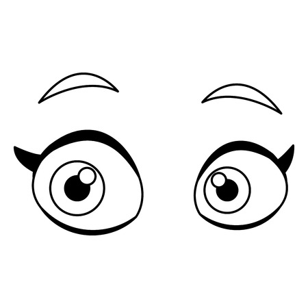 Woman eyes cartoon icon vector illustration graphic design icon vector illustration graphic design icon vector illustration graphic design Çizim