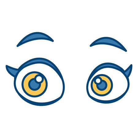 Woman eyes cartoon icon vector illustration graphic design Illustration