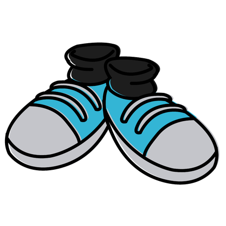 Pair of shoes cartoon icon vector illustration graphic design