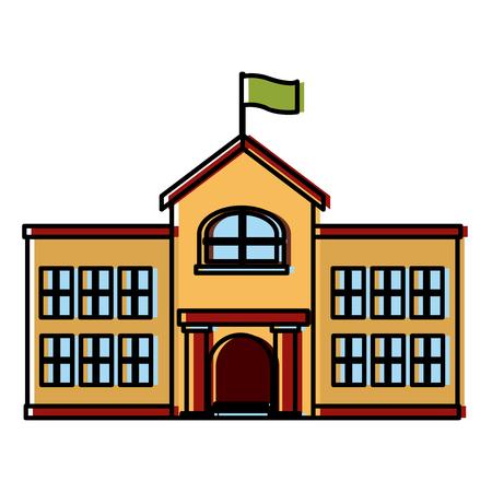 School building isolated icon vector illustration graphic design.