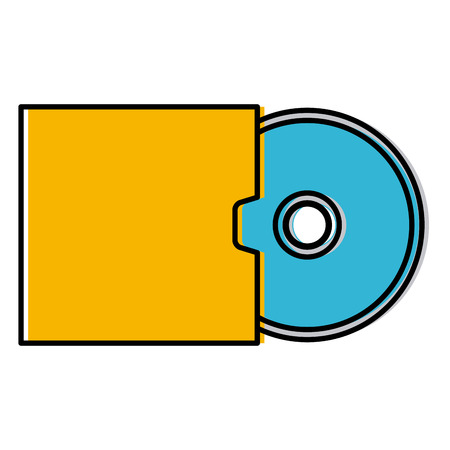 Cd rom mock up icon vector illustration graphic design Illustration