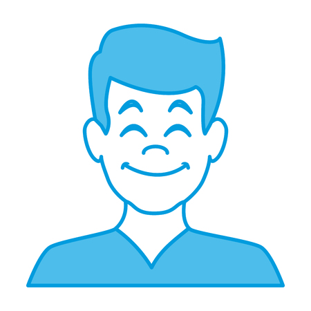 Man smiling avatar icon vector illustration graphic design. Illusztráció