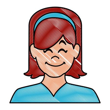 Woman smiling avatar icon vector illustration graphic design