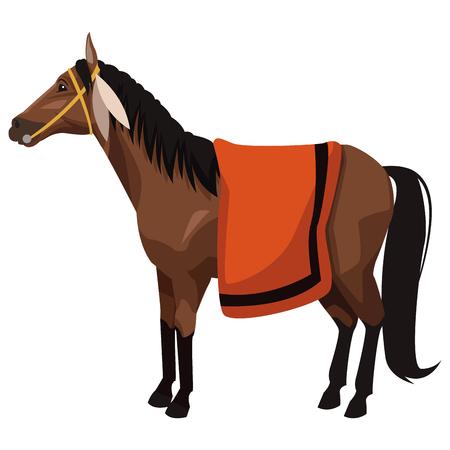 Horse Animal isolated icon vector illustration graphic design Иллюстрация