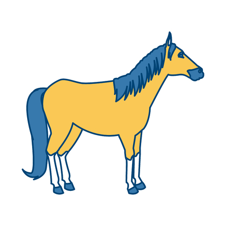 Horse Animal isolated icon vector illustration graphic design Illustration