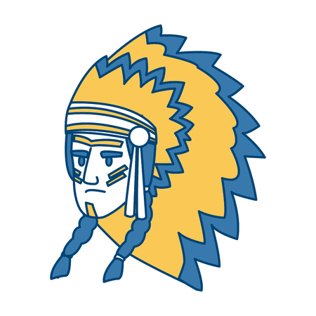 American indian face icon vector illustration graphic design