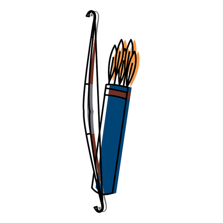 Bow and arrows icon vector illustration graphic design Illustration