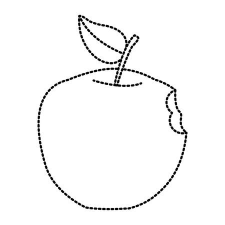 Apple fruit symbol icon vector illustration graphic design.