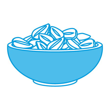 Oat flakes bowl icon vector illustration graphic design