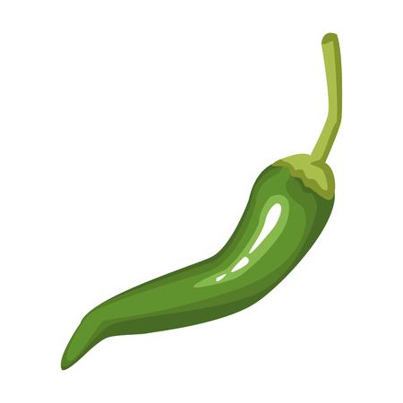 Hot spicy chilli icon vector illustration graphic design