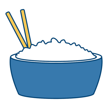 Rice bowl food icon vector illustration graphic design