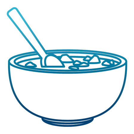Mexican beans bowl icon Illustration