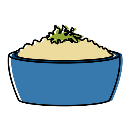 Rice bowl food icon vector illustration graphic design. Illustration