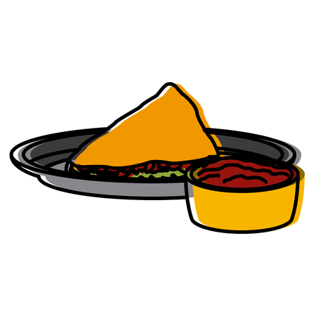 Taco mexican food icon vector illustration graphic design