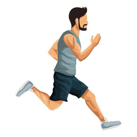 Fitness man running icon vector illustration graphic design 免版税图像 - 94400372