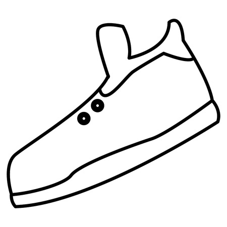 Sport shoe isolated icon vector illustration graphic design.
