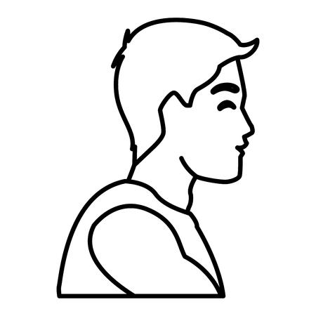 Progettazione grafica dell'illustrazione di vettore dell'icona di profilo dell'uomo di forma fisica Archivio Fotografico - 94429323