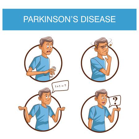 Parkinsons disease cartoon icon vector illustration graphic design Illustration