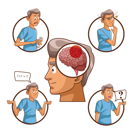 Parkinsons disease cartoon icon illustration graphic design