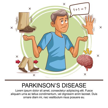 Parkinson's disease info-graphic icon vector illustration graphic design.