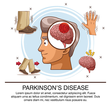 Parkinson's disease info-graphic icon vector illustration graphic design.
