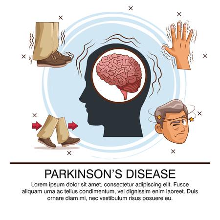 Parkinsons disease infographic icon vector illustration graphic design