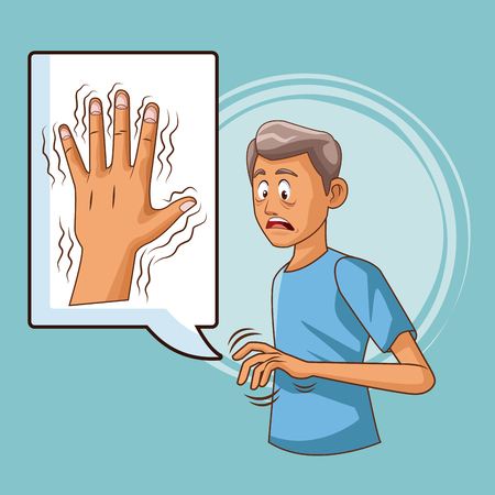 Parkinsons disease cartoon icon vector illustration graphic design Ilustrace