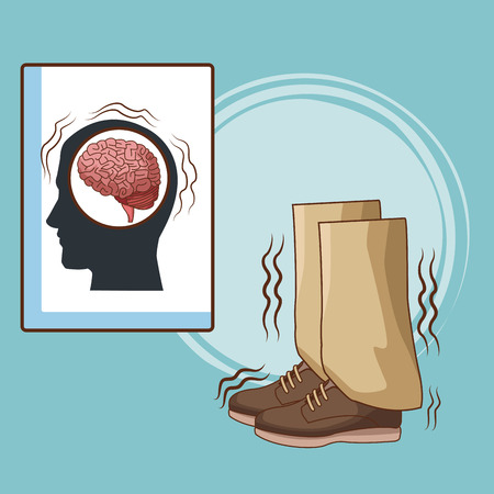 Parkinson's disease cartoon icon vector illustration graphic design.