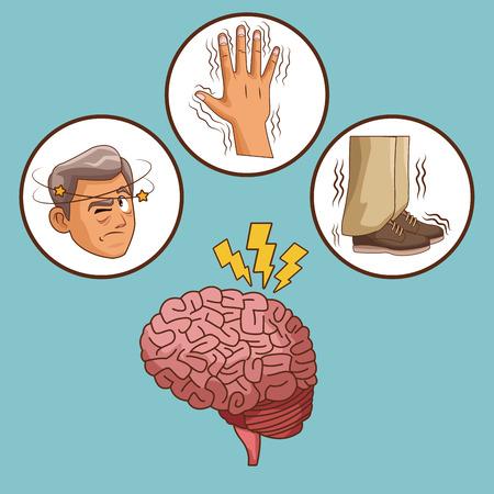 Parkinson's disease cartoon icon vector illustration graphic design. Stock Vector - 94431371