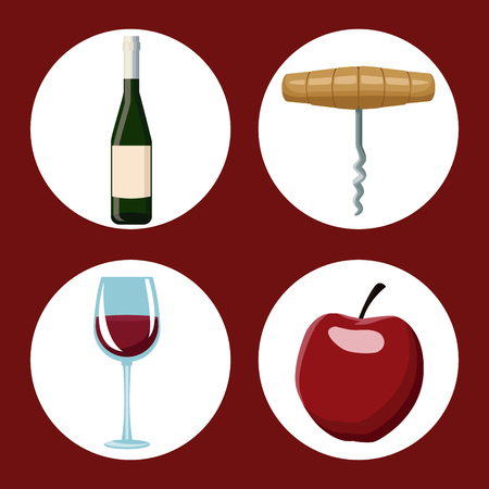 Winery elements and icons vector illustration graphic design.