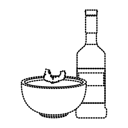 Tequila and mexican beans food icon vector illustration graphic design 일러스트