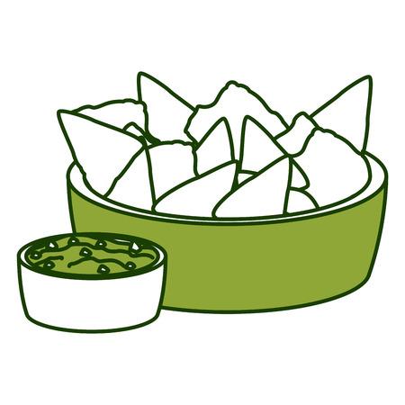 Nachos mexican food icon vector illustration graphic design