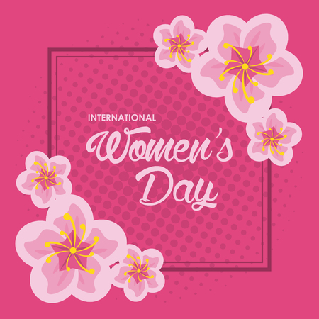 Womens day card icon vector illustration graphic design