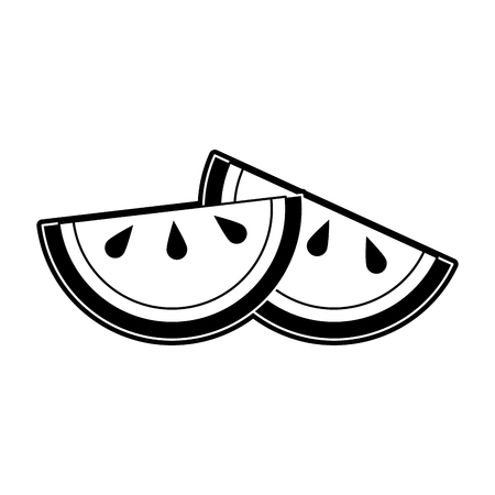 Oranges sliced fruit icon vector illustration graphic design