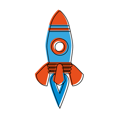 Rocket isolated symbol icon vector illustration graphic design Illustration