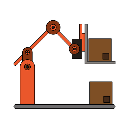 Forklift loading box icon vector illustration graphic design