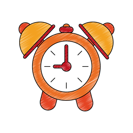 Clock with alarm bells icon vector illustration graphic design