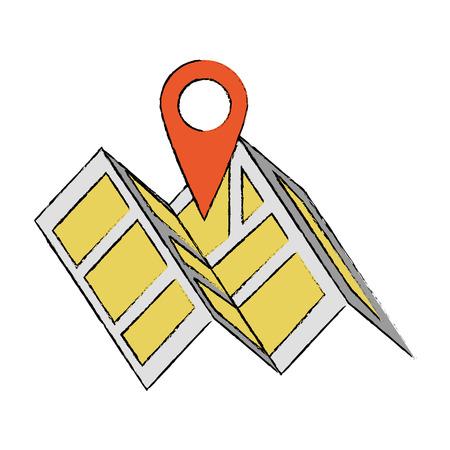 Map location symbol icon vector illustration graphic design Vectores