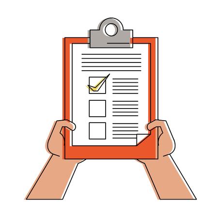 Hands with checklist icon vector illustration graphic design
