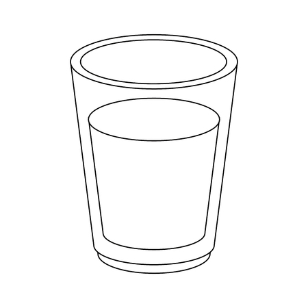 Milk glass cup icon vector illustration graphic design