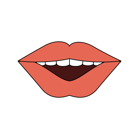 Mouth cartoon isolated icon vector illustration graphic design Vettoriali