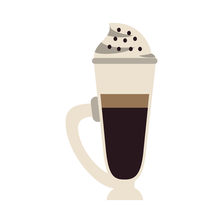 Cold coffee cup with chantilly icon vector illustration graphic design.